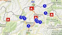 Übersicht der Südtiroler Feuerwehren im Einsatz
